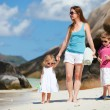 Stock Photo: Mother and kids on vacation