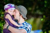 Vader en dochter portret — Stockfoto