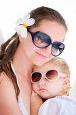 Mother and daughter portrait — Stock Photo