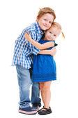 Hermano y hermana abrazando — Foto de Stock