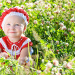 Portrait of toddler girl in meadow - Foto de Stock