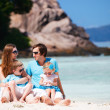 Family with two kids on vacation — Stock Photo #4975741