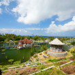 Stock Photo: East Bali palace and park landscape