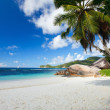 Idyllic beach in Seychelles - Stock Photo