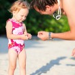 Father and daughter on vacation — Stock Photo