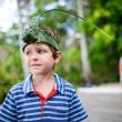 Boy outdoors portrait — Stock Photo