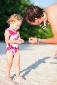 Baba ve kızı tatil — Stok fotoğraf