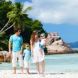 Family with two kids on vacation — Stock Photo #5167451