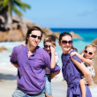 Family with two kids on vacation - Foto Stock