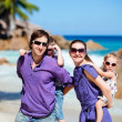 Family with two kids on vacation — Foto Stock