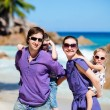 Foto Stock: Family with two kids on vacation