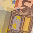 Stock Photo: Uncirculated 50 Euro Banknote Close up