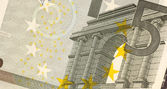 Uncirculated 5 Euro Banknote Close up — Stock Photo