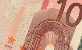 Uncirculated 10 Euro Banknote Close up — Stock Photo