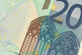 Uncirculated 20 Euro Banknote Close up — Stock Photo