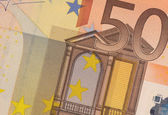 Uncirculated 50 Euro Banknote Close up — Stock Photo