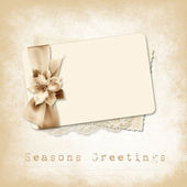 Vintage invitation for holiday — Stock Photo