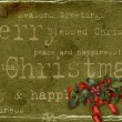 Grunge Christmas card — Stock Photo