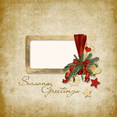 Old Christmas greeting card — Stock Photo