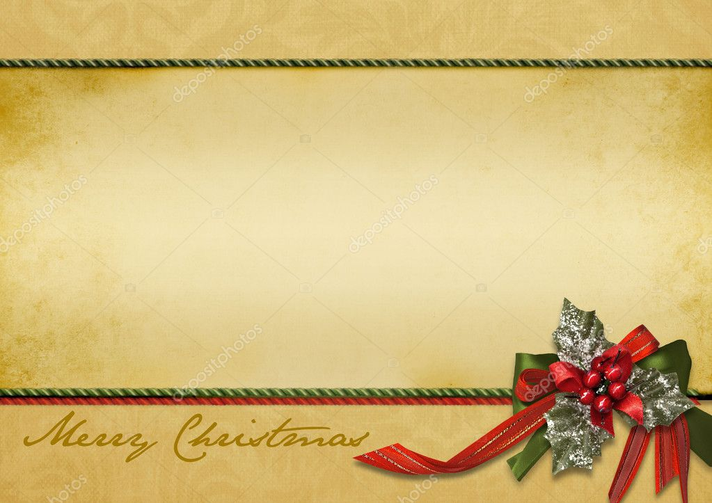 Vintage Christmas background with space for text or photo for congratulation to the holiday  Stock Photo #4208718