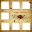 Christmas greeting card for a family - Stock Photo