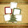 Christmas greeting card for a family — 图库照片