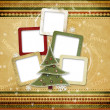 Christmas greeting card for a family — ストック写真