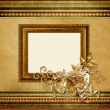 Beautiful vintage Christmas frame - Stok fotoğraf