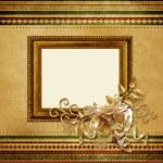 Beautiful vintage Christmas frame — Stock Photo