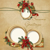 Gorgeous Christmas frame — Stock Photo