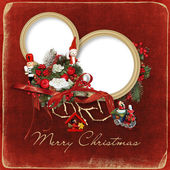 Beautiful Christmas frame — Stock Photo