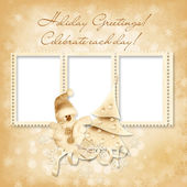 Vánoční rám s přáním — Stock fotografie