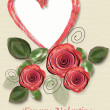 Greeting Card to St. Valentine's Day - Stock Photo