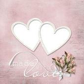 Ročník elegantní rám s růží — Stock fotografie