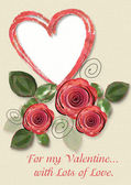 Greeting Card to St. Valentine's Day — Stock Photo