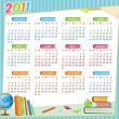 2011 school calendar - Stock Vector