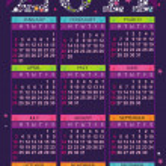 Colorful Calendar for 2011 — Stock Vector