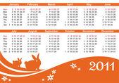 2011 calendar — Wektor stockowy