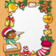 Little boy writing a letter to Santa 2 — Stock Vector