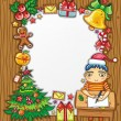 Little boy writing a letter to Santa — Stock Vector