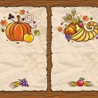 Stock Vector: Thanksgiving antique paper backgrounds