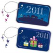 New year trinket tags 2011 — Stock Vector
