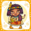 Royalty-Free Stock Imagen vectorial: Cute indian girl 2