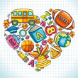 Royalty-Free Stock Vector Image: I love school theme