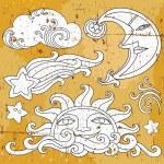 Celestial symbols — Stock Vector #4262196