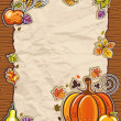 origines antiques papier Thanksgiving — Vecteur #4262201