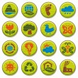Stock Vector: Environment icons set