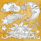 Simboli celesti — Vettoriale Stock