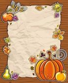 Thanksgiving antique paper backgrounds — Stock Vector