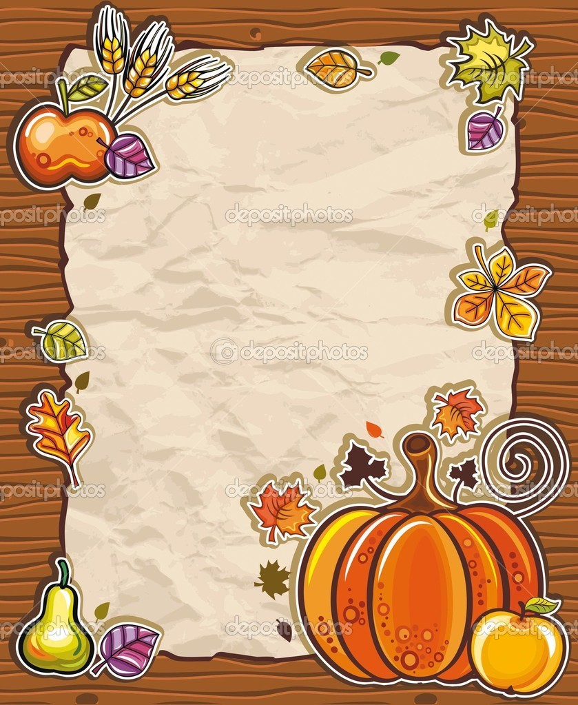 Thanksgiving theme: Beautiful Holiday paper arrangement with the space for your own text, on the wooden background.  — Stock Vector #4262201